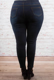 Stepping Out Jeggings, Dark Wash