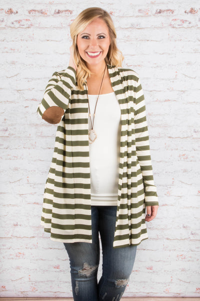 Patch Me If You Can Cardigan, Olive