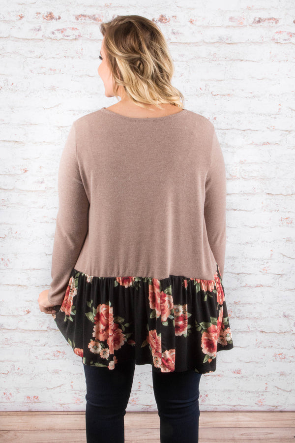 A Night To Remember Tunic, Taupe