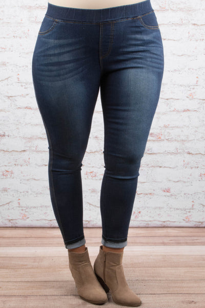jeggings, long, skinny, blue, faded