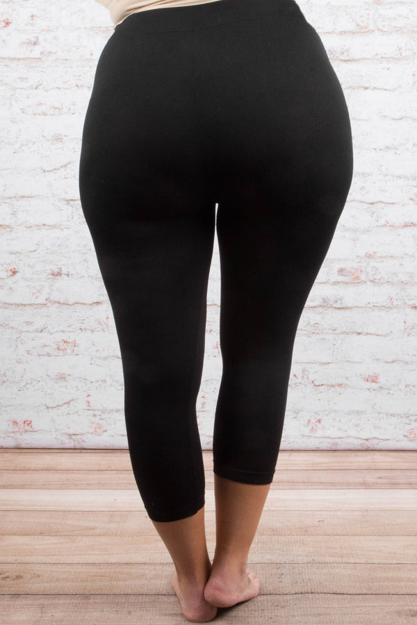 Just Right Leggings, Cropped Black