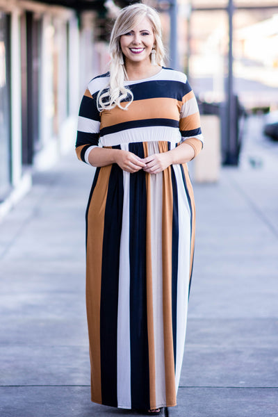 Long Day Maxi Dress, Camel
