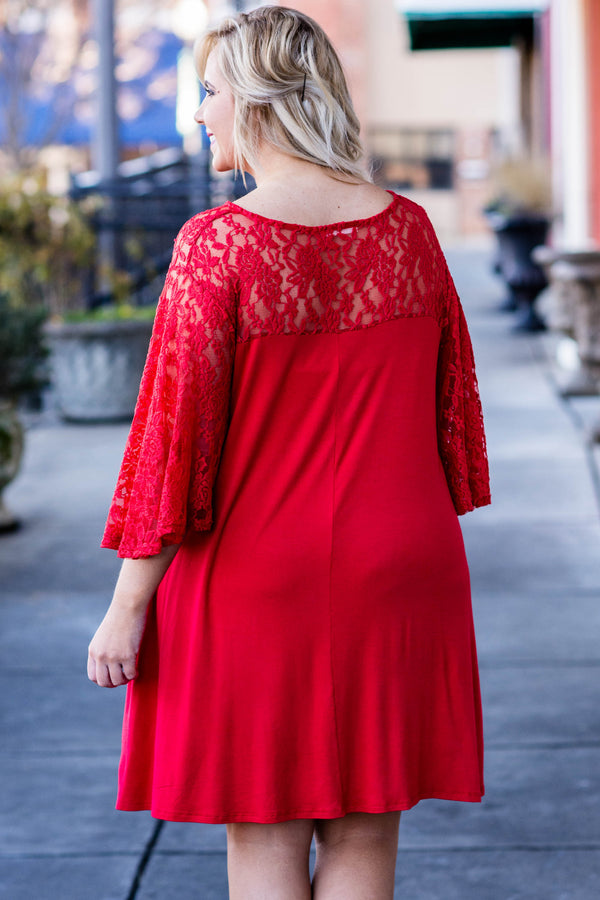 A Whole New World Dress, Red