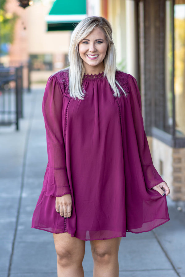 Dose Of Drama Dress, Burgundy