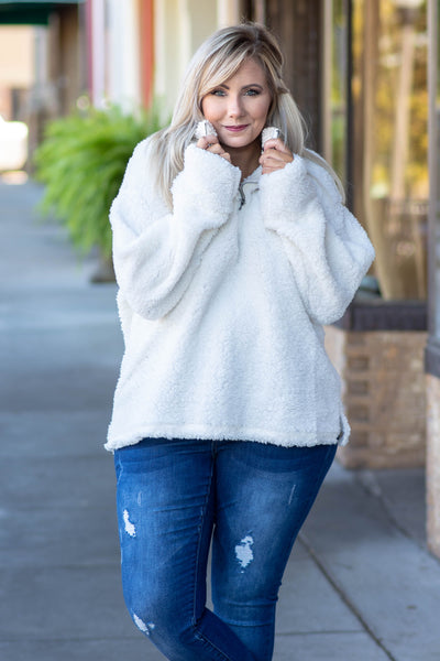 Fuzzy Feelings Pullover, Ivory