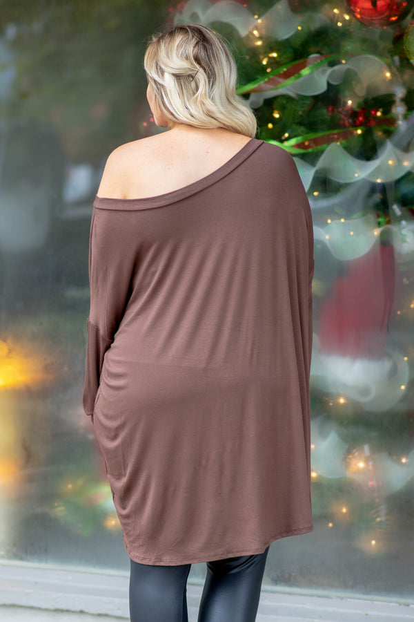 Cozy Mornings Tunic, Brown