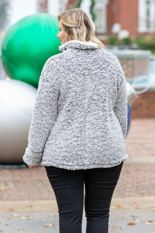 Sunday Snuggles Pullover, Heather Gray