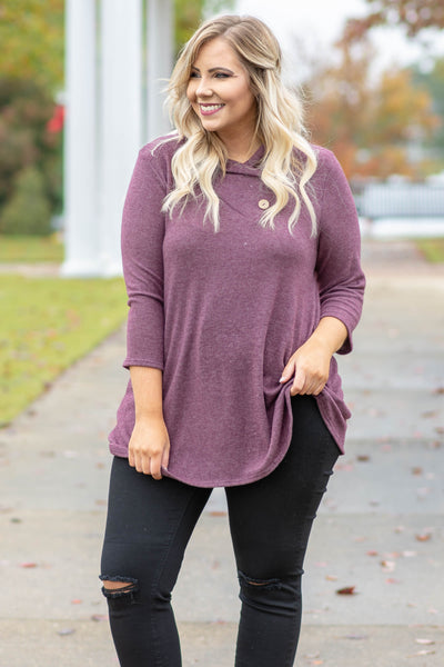 Best Believe It Tunic, Plum