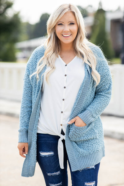 Found What I'm Missing Cardigan, Blue Grey