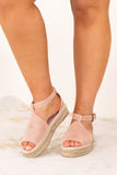 shoes, sandals, pink, solid, mauve