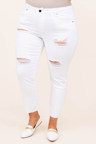 bottoms, jeans, white, distressed, skinny