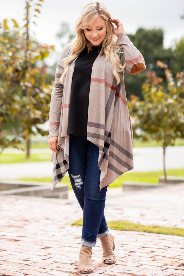 Ivy League Cardigan, Stone