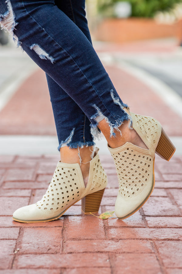 boots, heels, beige, pattern, side slit, shoes, neutral, texture
