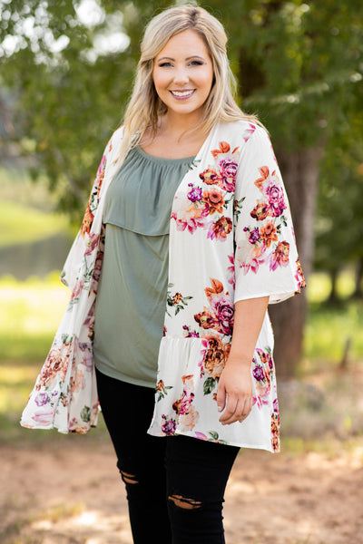 top, shirt, blouse, green, lace, dark sage, sage, short sleeve, off shoulder, flowy, cute