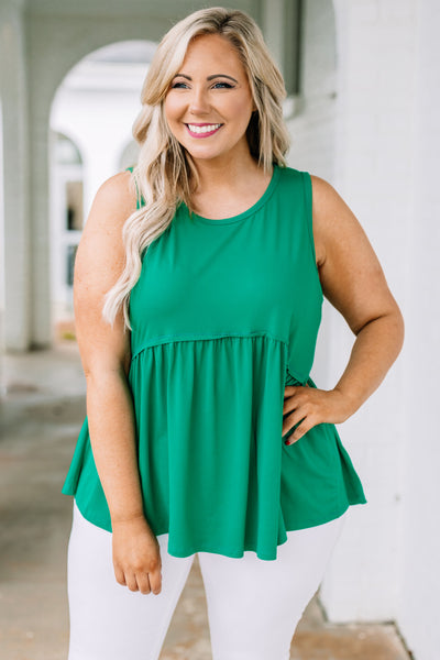 tank, long, thick straps, babydoll, flowy, green, comfy, spring, summer