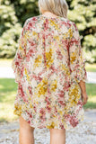 dress, floral, long sleeve, flowy, figure flattering, natural