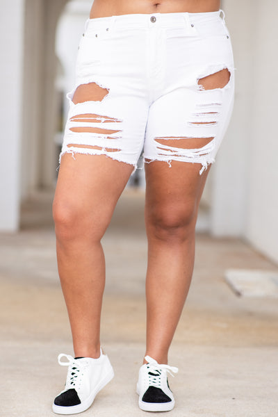 Own The Night Shorts, White