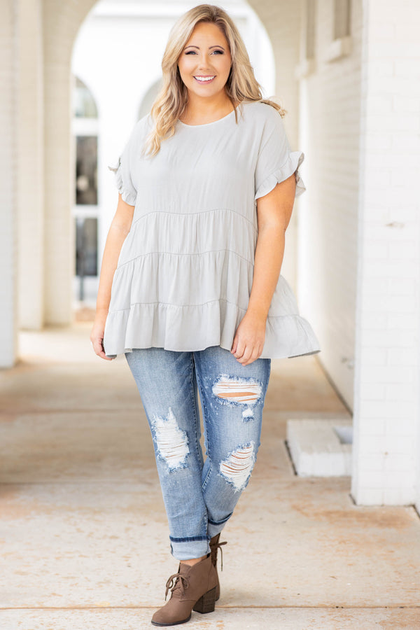 Defy The Odds Top, Gray