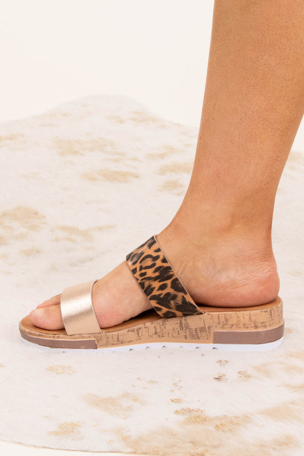 shoes, sandals, leopard