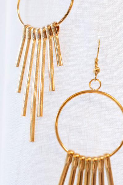A Simple Statement Earrings, Gold