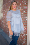 Easy To Love Tunic, Gray