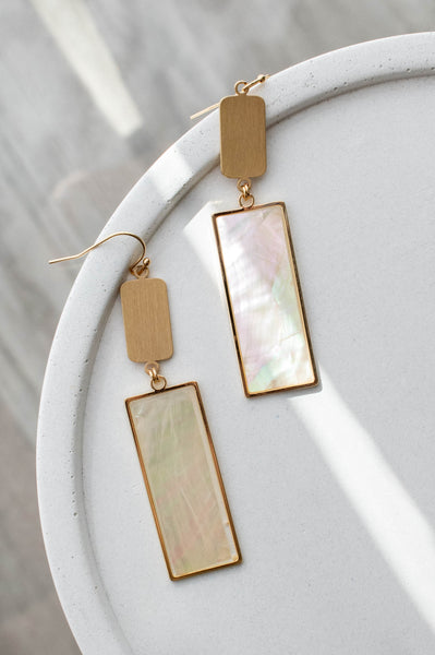 Watercolor Painting Earrings, Gold