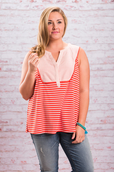Candy Striper Top, Orange