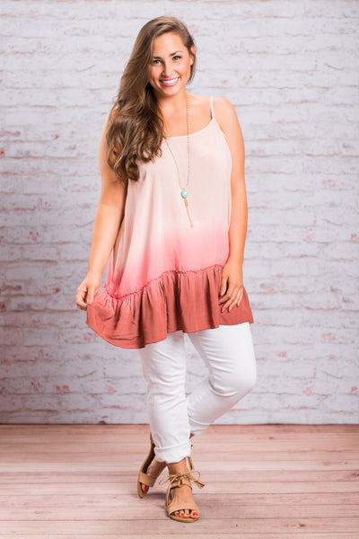 Ruffled Rendezvous Tank, Blush