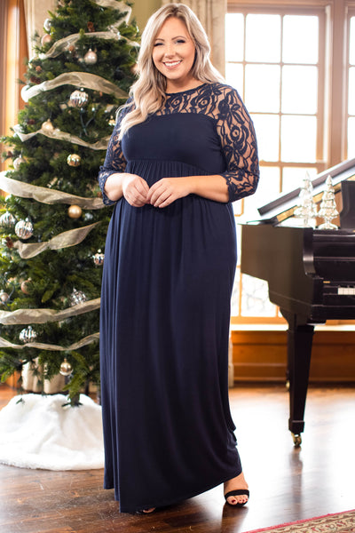 dresses, maxi dress, blue, lace, long, holiday party, flattering