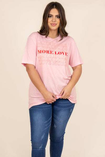 more love, print, pink, red, t-shirt, comfy, lounger, graphic, short