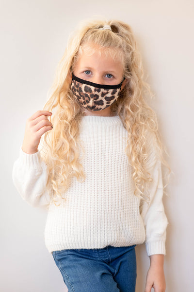 accessory, mask, brown, leopard, kids