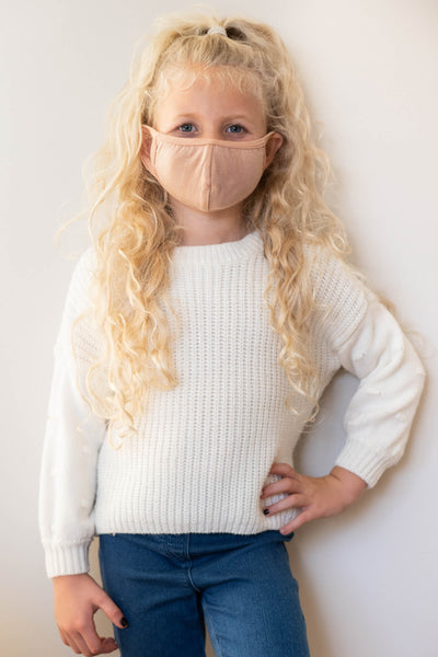 accesories, mask, kids mask, children, brown, solid, nude