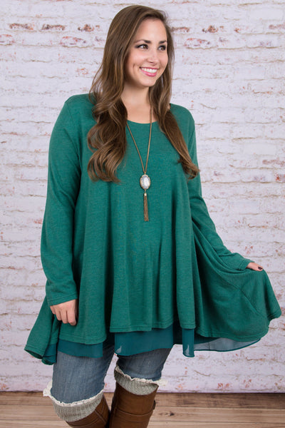 Lovestoned Tunic, Hunter Green