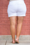 Be Kind Shorts, White