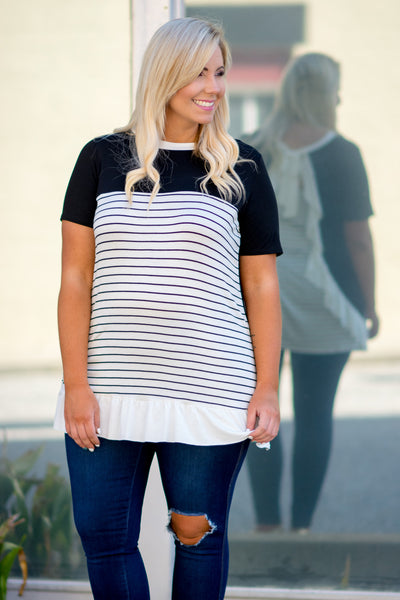 It's A Stripe Thing Tunic, Ivory