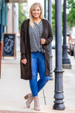 cardigan, long sleeve, long, pockets, olive, comfy, outerwear, flowy