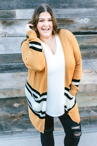 top, cardigan, toffee, pockets, long sleeve, color block, white, black