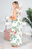 Sunset Romance Maxi Dress, Ivory