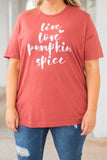 top, tee graphic tee, rust, white writing, holiday, pumpkins, Halloween