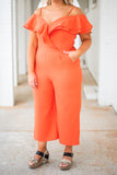 We Got A Love Thing Jumpsuit, Red-Orange