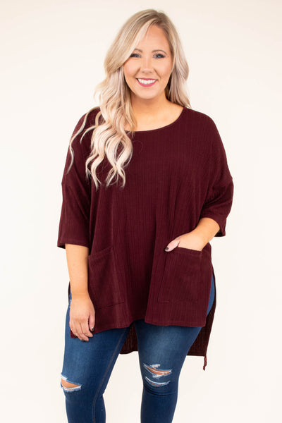 The Way I See It Tunic, Burgundy