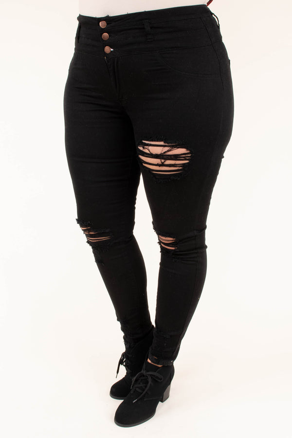 My Saving Grace Skinny Jeans, Black