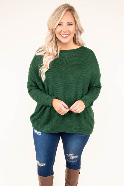 sweater, long sleeve, loose, green, comfy, fall, winter
