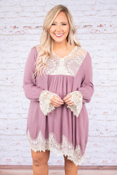 Perfectly Lovely Dress, Mauve