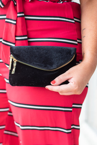 Rule The Day Clutch, Black