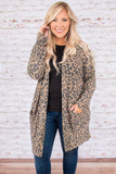 top, cardigan, brown, taupe, leopard, long sleeve, comfy, causal, layer, loose fit
