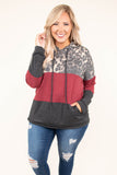 hoodie, long sleeve, hood, drawstrings, black, red, leopard, colorblock, comfy, outerwear, fall, winter