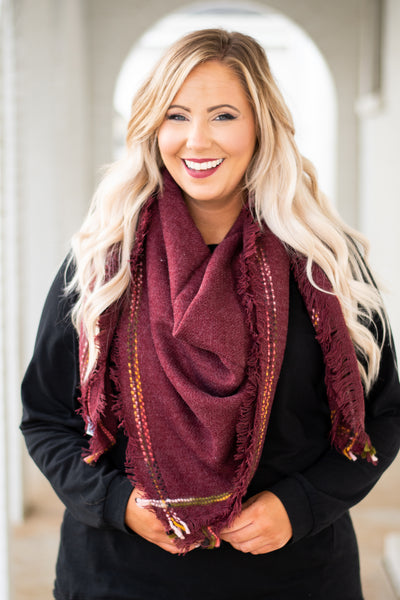 The Best Of Life Scarf, Burgundy