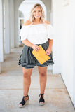 shirt, short sleeve, off the shoulder, ruffle top, flowy, white, comfy, spring, summer