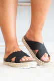 Beach Weekend Sandals, Black